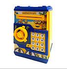 Детская копилка MINIONNE сейф с купюроприёмником Миньон с кодовым замком, фото 7