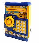 Детская копилка MINIONNE сейф с купюроприёмником Миньон с кодовым замком, фото 3
