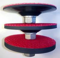"""Диск основание липучка резиновая для крепления  """"Черепашек"""" полировальных дисков  100x2,5,8xМ14."""