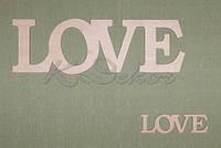 Слово LOVE (длина 60 см.) заготовка для декора
