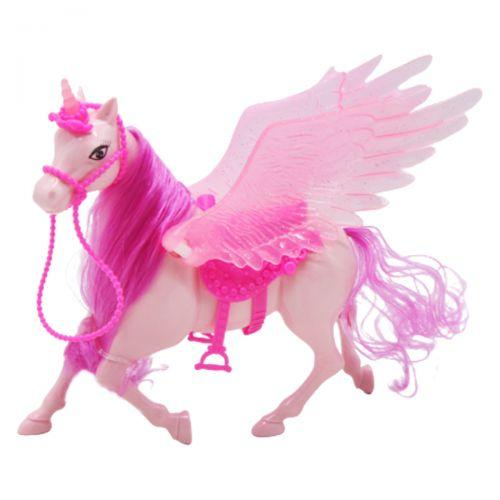 """Пластиковая лошадка """"Пегас"""", розовый 686-779"""