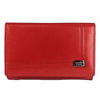 Женский кожаный кошелек маленький красный Rovicky CPR-002-BAR Red, фото 1