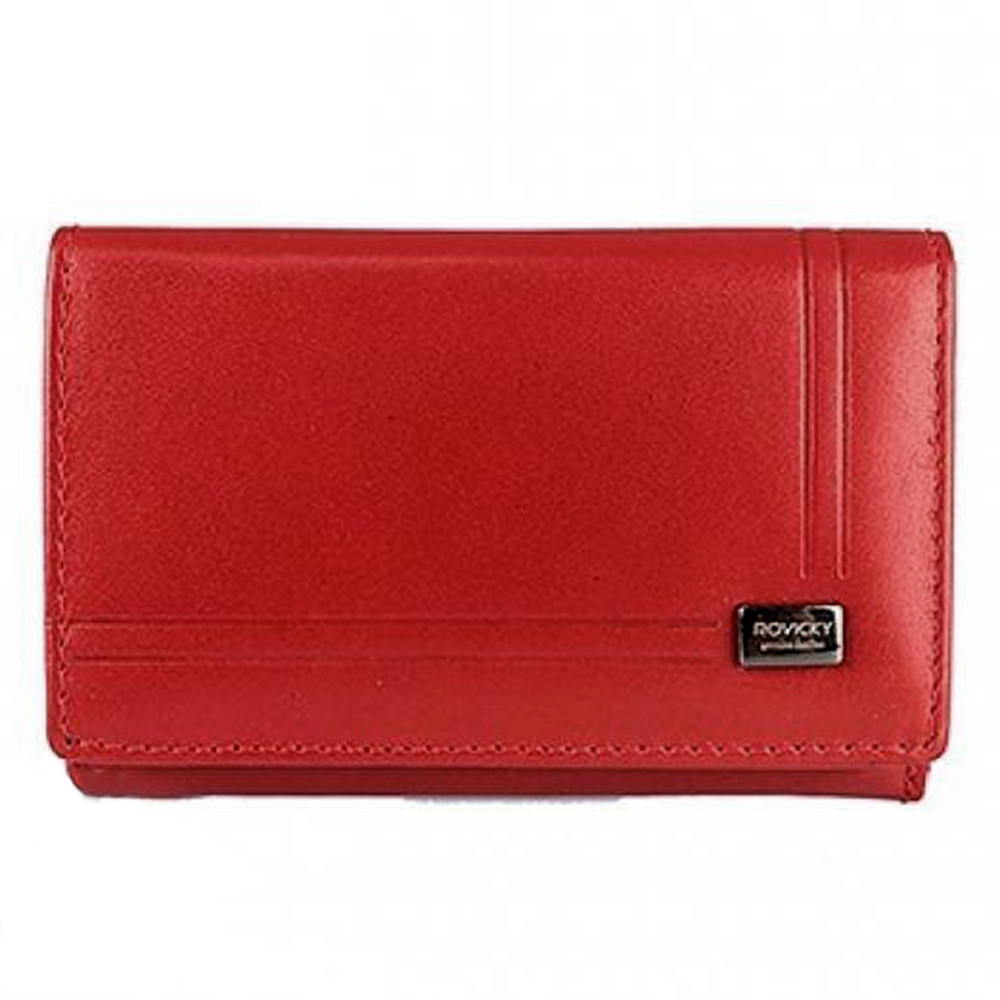 Женский кожаный кошелек маленький красный Rovicky CPR-002-BAR Red