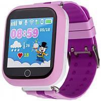 Детские умные смарт часы GPS Smart Baby Watch Q100 S Original Звонки + SMS + местоположение ребенка Розовые