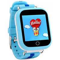 Детские умные смарт часы GPS Smart Baby Watch Q100 S Original Звонки + SMS + местоположение ребенка Голубые