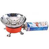 Газовая печь примус Kovar K-203 туристическая с защитой от ветра, фото 2