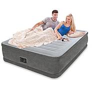 Двуспальная надувная матрас-кровать с электрическим насосом Intex