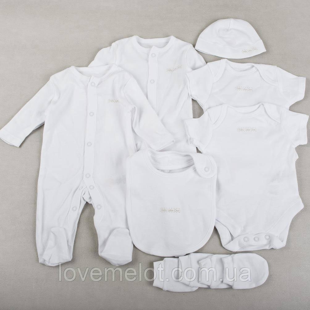 """Детский подарочный набор одежды, комплект для новорожденных из 8-ми вещей """"Мася"""" белый, 0-1 мес., 56 см"""