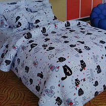 Постельное белье Home Полуторный Бязь Голд Котики 143x210 наволочки 50х70 или 70х70 SKL64-277998, фото 3