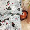Постельное белье Home Полуторный Бязь Голд Котики 143x210 наволочки 50х70 или 70х70 SKL64-277998, фото 5