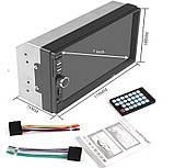 Автомагнитола 7018 short 2DIN 7-дюймов сенсорный экран, фото 2