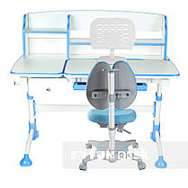 Комплект для школьника парта FunDesk Amare II Blue + кресло FunDesk Primavera II Blue, фото 2
