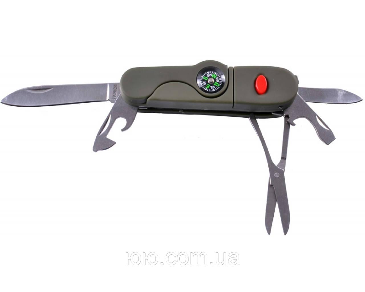 Туристический нож с компасом NТ-067