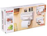 Кухонный диспенсер для полотенец Kitchen Roll Triple Paper Dispenser, фото 3