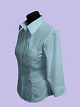 Класична Жіноча блуза , рукав три чверті , білого кольору