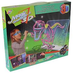 Доска для рисования с 3D-эффектом игровой набор HLV 3D YM 191 Динозавр