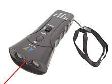 Ультразвуковой Мощный отпугиватель собак (2 головки) со светодиодом и лазером, отпугиватель собак,