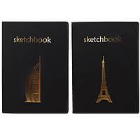 Блокнот для рисования (скетчбук) черные листы 20 л.A5,БлА5/40чб
