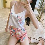 Комплектик топ + шорты Unicorn розовый, фото 4