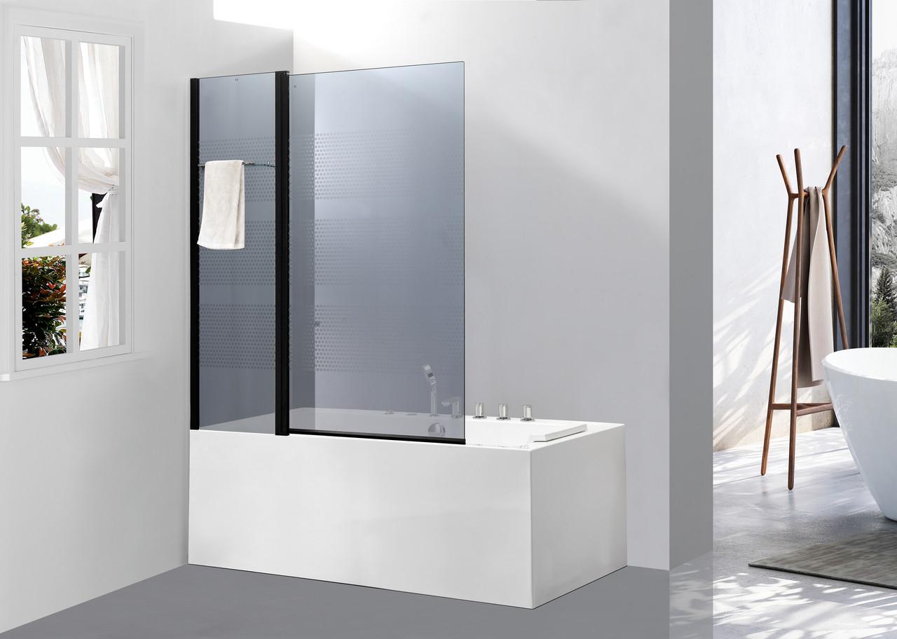 Стеклянная шторка для ванны AVKO Glass 542-8 100x140 Clear
