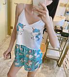 Комплектик топ + шорты Unicorn голубой, фото 5