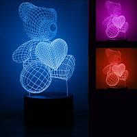 3D Светильник Мишка