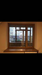 Дубовое окно из натурального дуба с подоконником