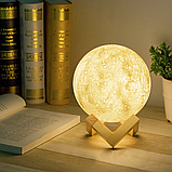 Лампа луна  3D Moon Lamp Настольный светильник луна на сенсорном управлении, фото 2