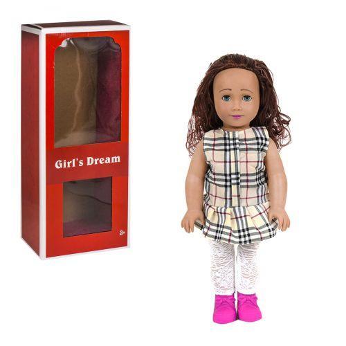 """Кукла """"Girl's Dream"""", 45 см (в бежевую клеточку) 8920 С"""