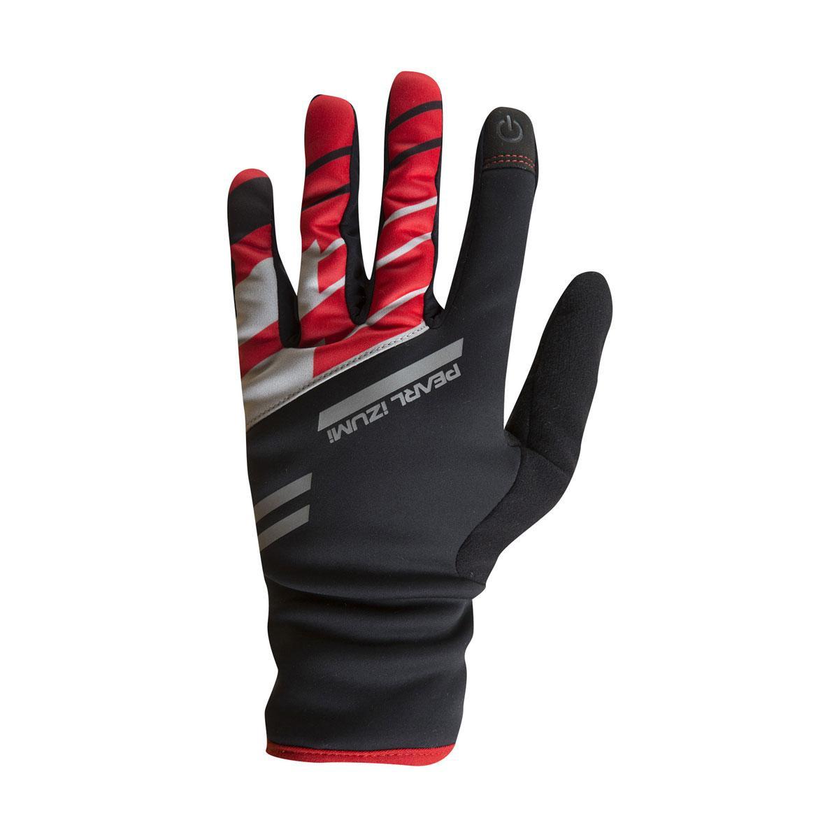 Перчатки Pearl Izumi PRO SOFTSHELL LITE, чорно-червоні, розм. M
