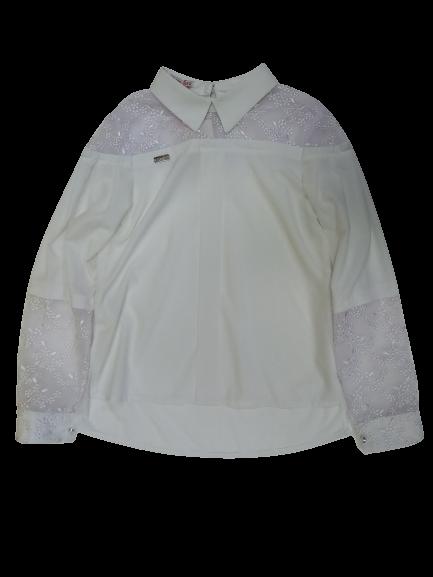 Блузка для девочки белая Сьюзи БЛ-34809 рост 164