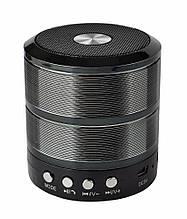 Портативная колонка, для телефона, WS-887 Mini Speaker, с флешкой и радио Чёрная, Портативные колонки и