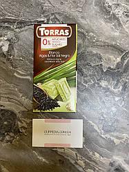 Белый шоколад Torras с водорослями и морской солью 75 грм