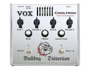 "Педаль для электрогитары ламповая Vox COOLTRON BULLDOG DISTORTION ""дисторшн"""