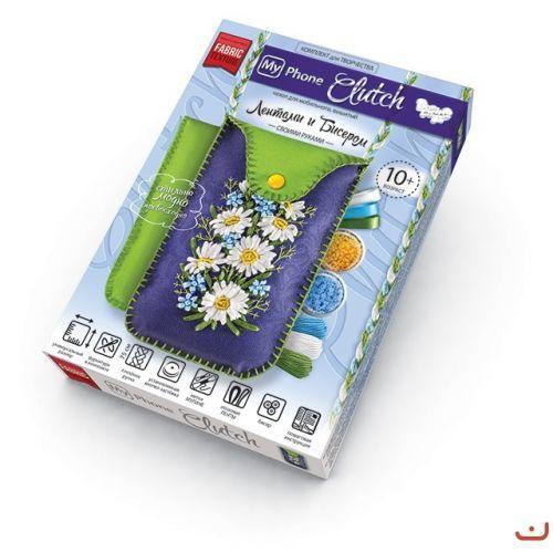 """Комплект для творчества, чехлы с вышивкой лентами, """"My Phone Clutch"""" МРСL-01-01"""