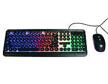 Светящаяся компьютерная клавиатура + геймерская игровая мышь с подсветкой HK3970   мышка для компьютера (ПК),
