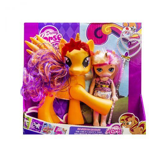 """Набор """"Dream Horse: лошадка и кукла-пони"""" (оранжевая) LFJ850"""