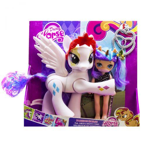 """Набор """"Dream Horse: лошадка и кукла-пони"""" (белая) LFJ850"""