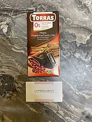 Чёрный шоколад Torras перец чили-корица 75 грм