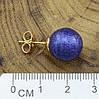 Серьги Xuping 29157 размер 13х13 мм  вес 3.3 г синяя эмаль позолота 18К, фото 2