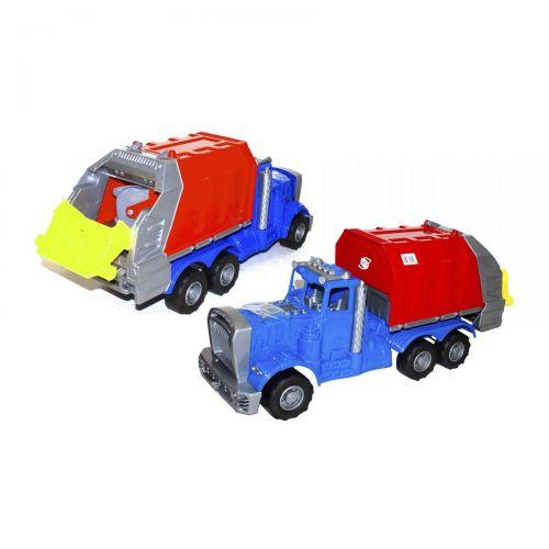 Машина пластиковая Мусоровоз (синяя) 523
