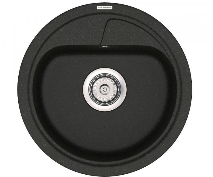 Кухонная круглая мойка Vankor POLO PMR 01.45 Black