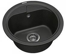 Кухонна кругла мийка Vankor POLO PMR 01.45 Black
