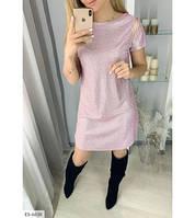 Женское стильное платье из люрекса
