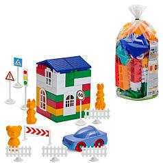 Конструктор детский 80 деталей пакет пвх Colorplast