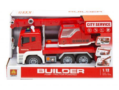 """Кран с воздушной помпой """"City Service"""", красный WY812А/WY812В/WY812 С"""