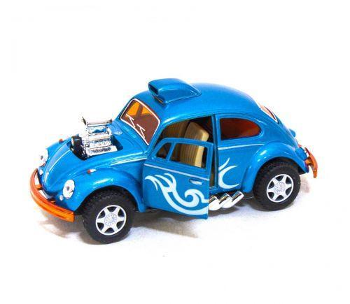 "Машинка KINSMART ""Volkswagen Beetle Custom-Dragracer"" (голубая) KT5405W"