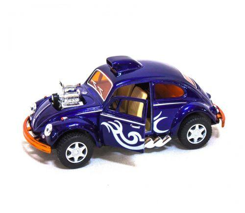 "Машинка KINSMART ""Volkswagen Beetle Custom-Dragracer"" (фиолетовая) KT5405W"