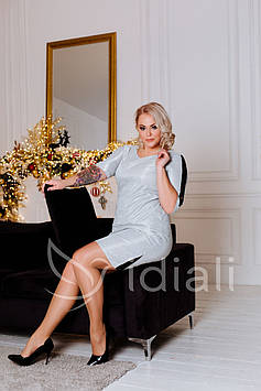 Платье люрекс+гепюр р.50-56