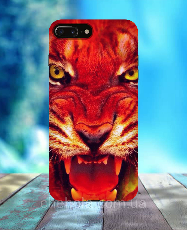 Чехол для iPhone 7 8 7 Plus 8 Plus Тигр морда